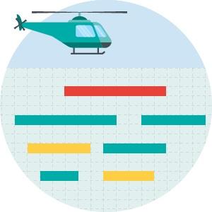 Rollen en verantwoordelijkheden verdelen met een helikopterview