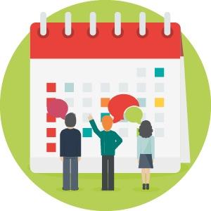 Rollen en verantwoordelijkheden toewijzen in een kalender