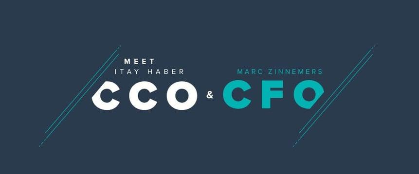 Itay Haber (CCO) en Marc Zinnemers (CFO) vervoegen Teamleaders managementteam